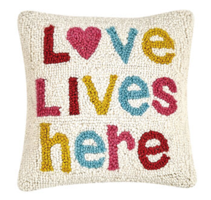 Love Lives Here Hook Pillow