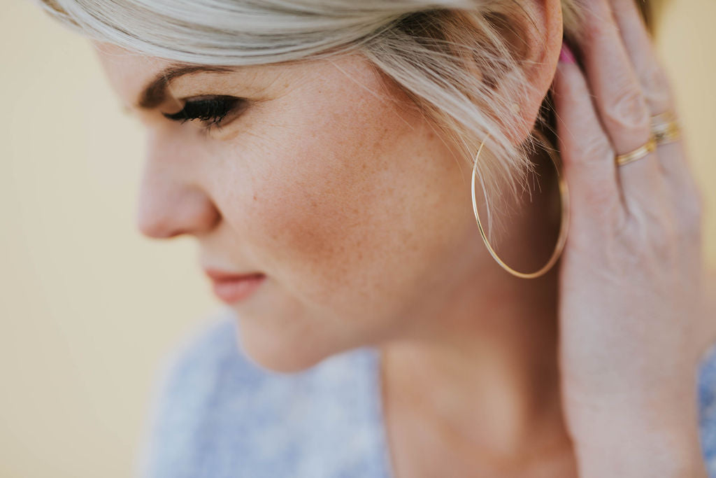 Hey June Classic Hoop Earrings