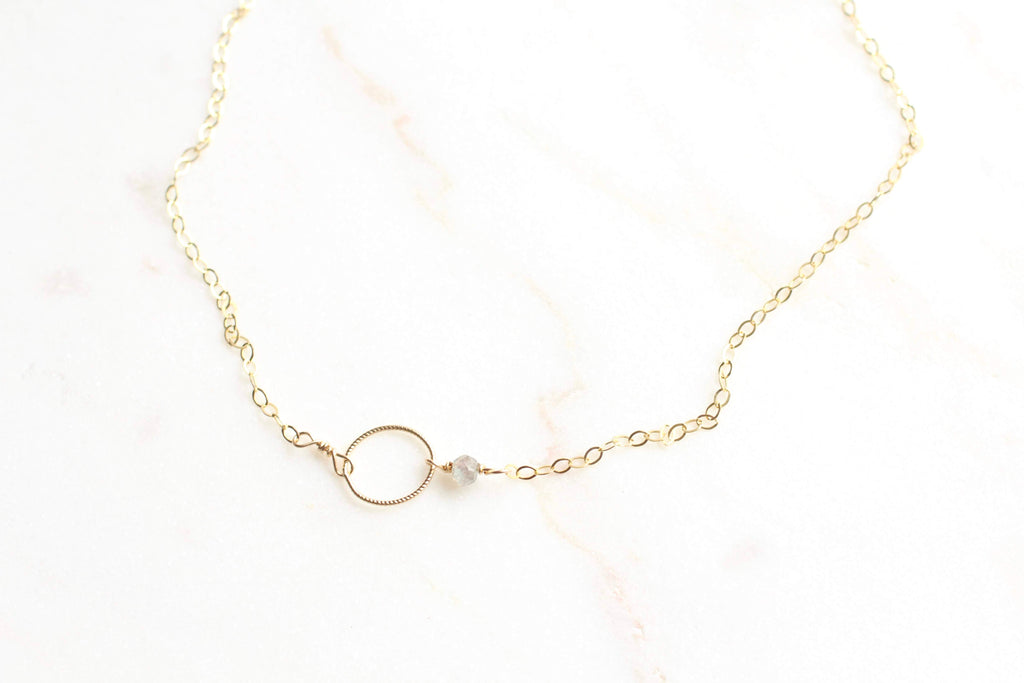 Voulez Dainty Oval and Laborite Chokers/Short Necklace