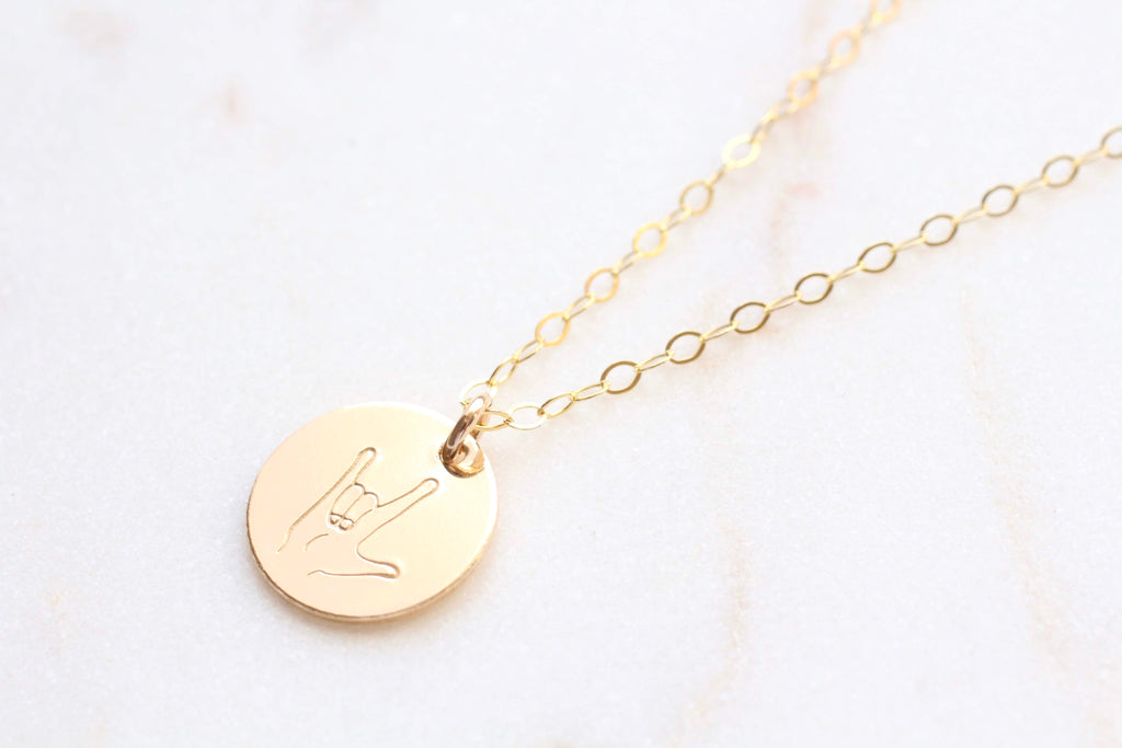 "Voulez ASL ""I Love You"" Necklace"