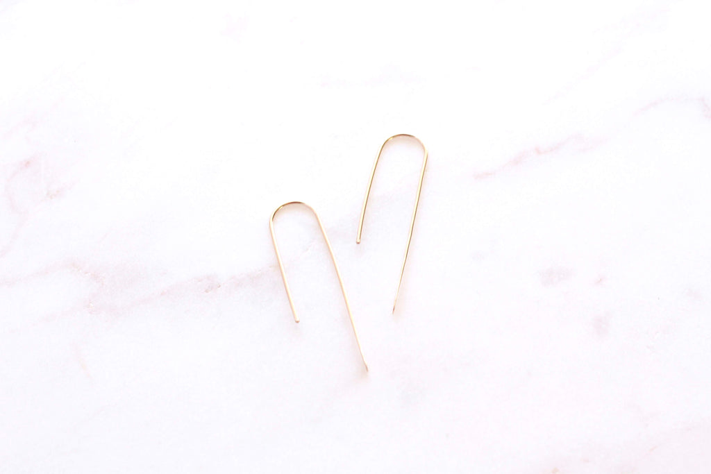 Voulez Asymmetrical Arch Earrings