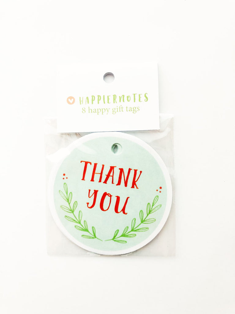 "Happiernotes ""Thank you"" Gift tags"