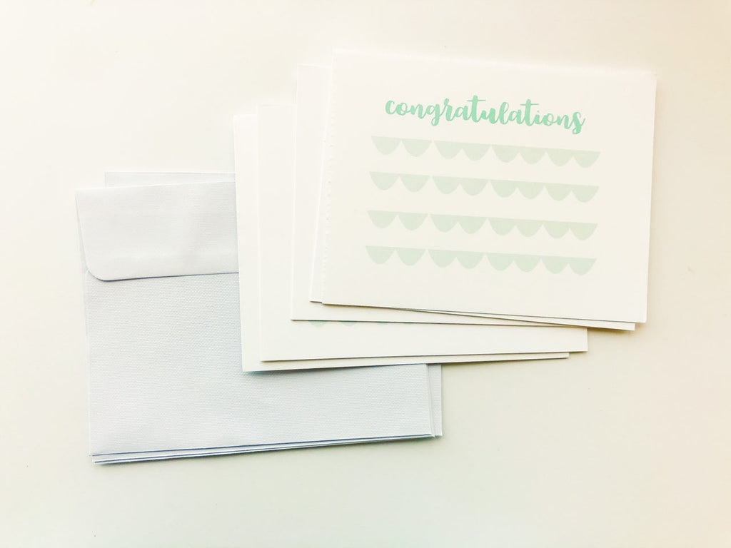 "Happiernotes ""Congratulations"" Scallop Cards"