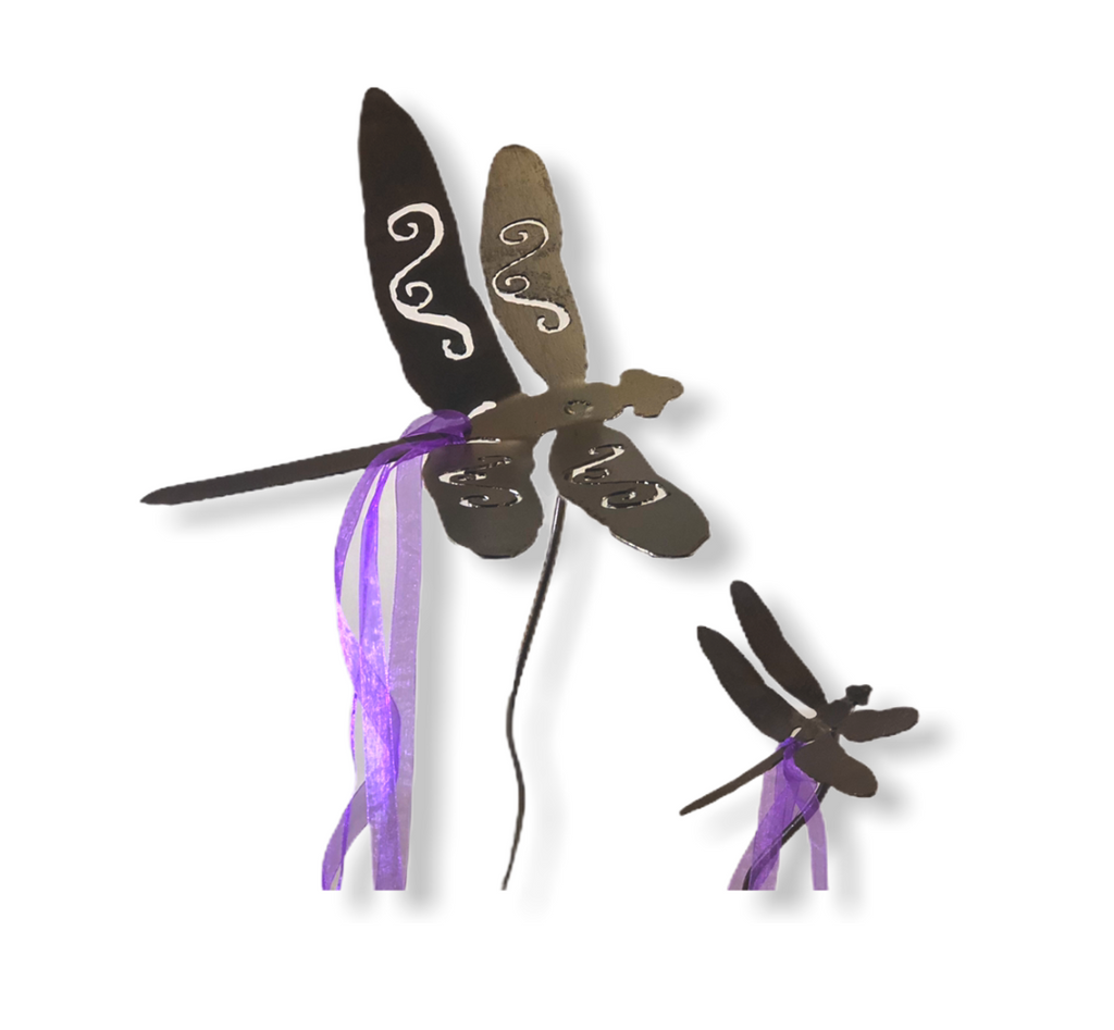 Magical Dragon Flies Garden Art