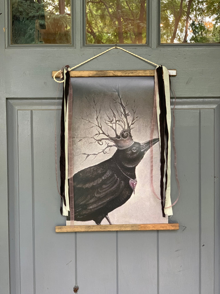 Crow Banner for Halloween