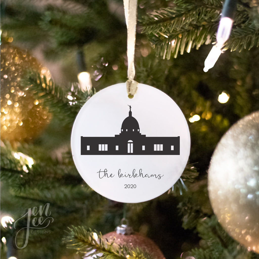 Temple Silhouette Ornament by Jen Lee Designs