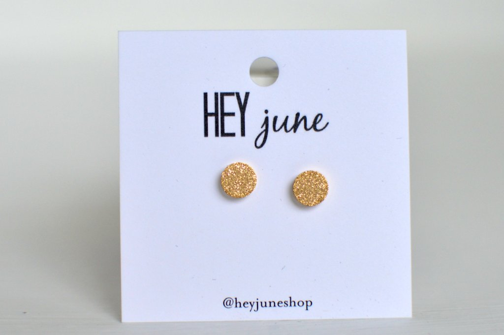 Hey June Sparkle Circle Stud Earrings