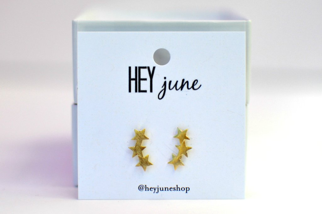 Hey June Star Crawler Stud Earrings