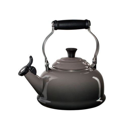 Le Creuset Enamel on Steel Whistling Tea Kettle, 1.7 qt, Oyster