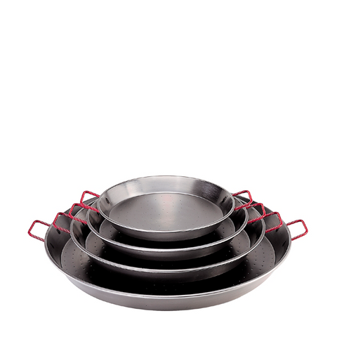 de Buyer Traditional Steel Paella Pan w/Red Handles - Kitchen Universe