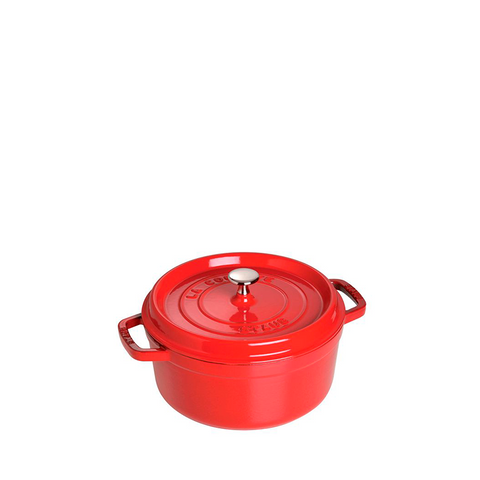 Staub Cast Iron Round Cocotte Oven, 9-qt, Cherry Red