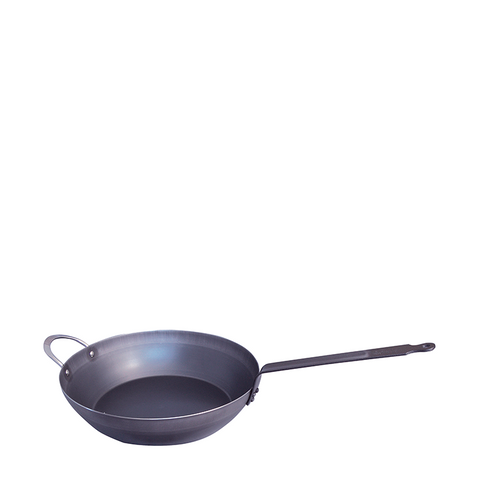 de Buyer Force Round Blue Chef's Pan Blue Steel, 12.6-in
