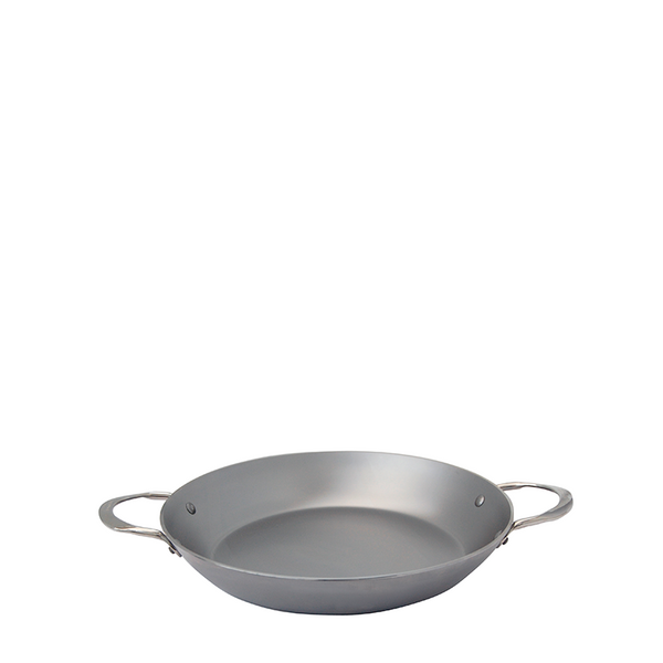 de Buyer Mineral B Element Steel Paella Pan, 12.5-in - Kitchen Universe
