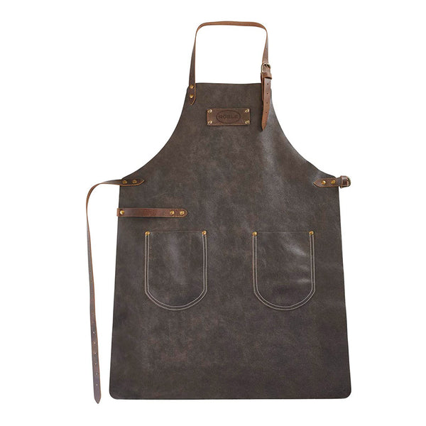 Rosle Genuine Leather Grill and BBQ Apron, Brown
