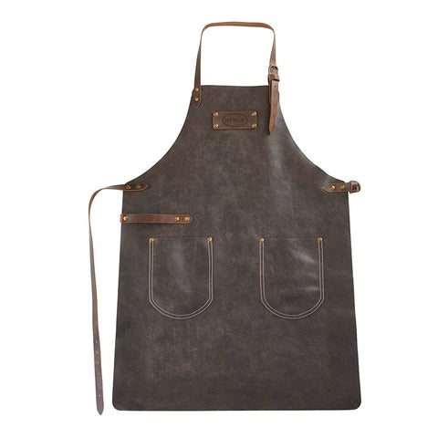 Rosle Genuine Leather Grill and BBQ Apron, Brown - Kitchen Universe