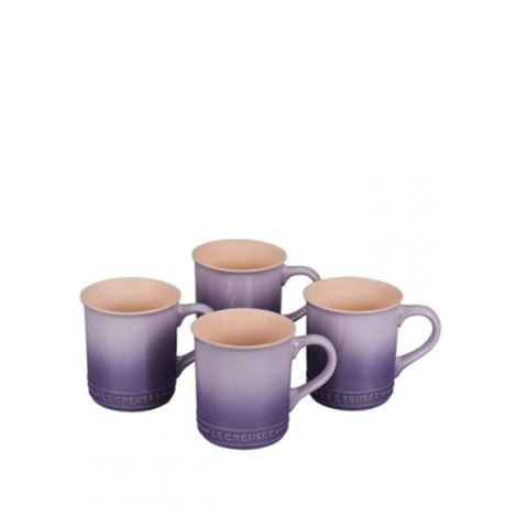Le Creuset Stoneware Set of 4 Mugs, 14-oz, Provence
