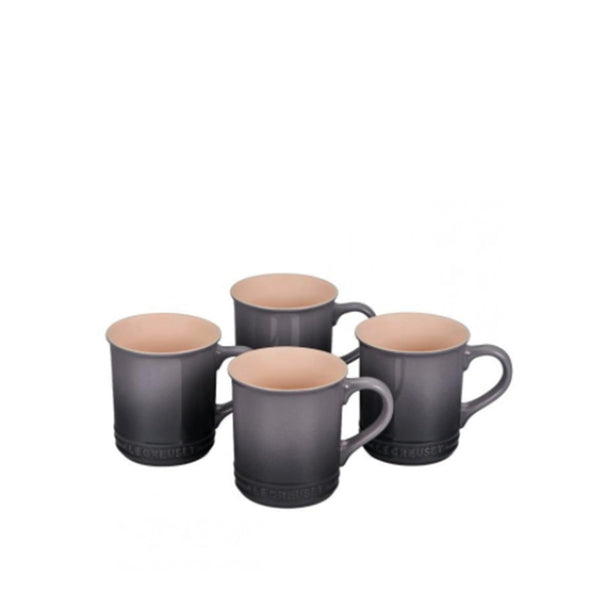 Le Creuset Stoneware Set of 4 Mugs, 14-oz, Oyster