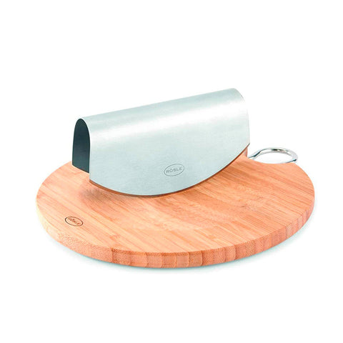 Rösle Stainless Steel Herb Grinder with Bamboo Board - Kitchen Universe