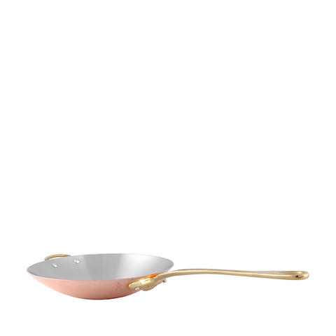 Mauviel M'heritage M150B2 Copper Wok, 11.8-in