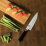 Shun Classic Santoku Knife with Hollow Ground Blade 7-in