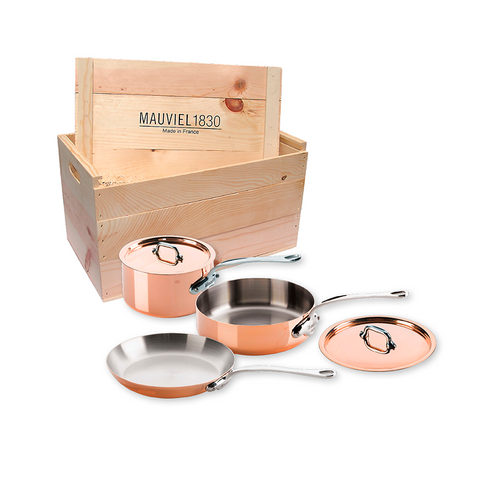 Mauviel M'heritage M150S Copper 5-Piece Set w/Crate - Kitchen Universe