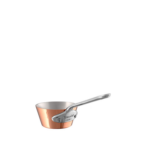 Mauviel M'mini Copper & Stainless Steel Splayed Saute Pan, 4.8-oz