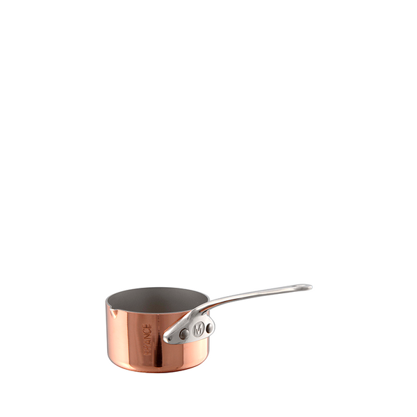 Mauviel M'mini Copper & Stainless Steel Saucepan w/ Pouring Edge, 1.7-oz
