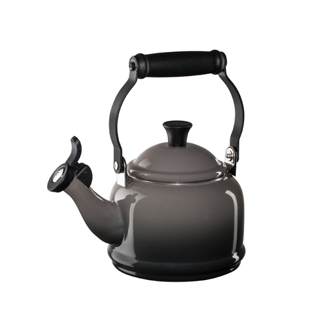 Le Creuset Enamel on Steel Demi Tea Kettle, 1.25 qt, Oyster