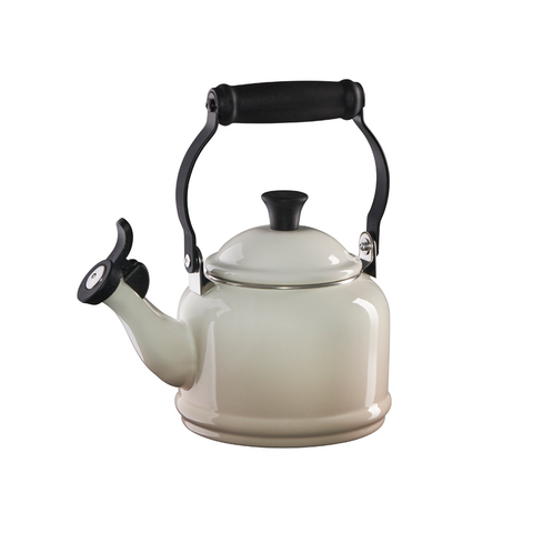 Le Creuset Enamel on Steel Demi Tea Kettle, 1.25 qt, Meringue