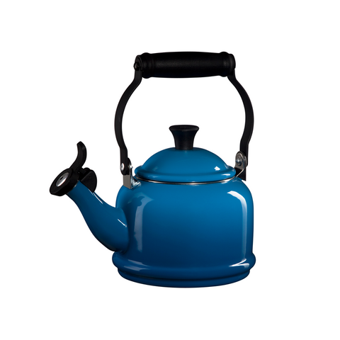 Le Creuset Enamel on Steel Demi Tea Kettle, 1.25 qt, Marseille