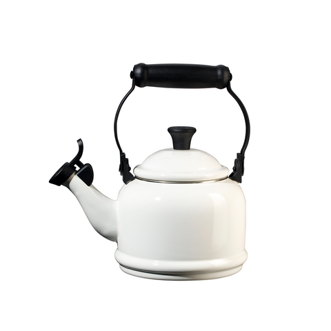 Le Creuset Enamel on Steel Demi Tea Kettle, 1.25 qt, White