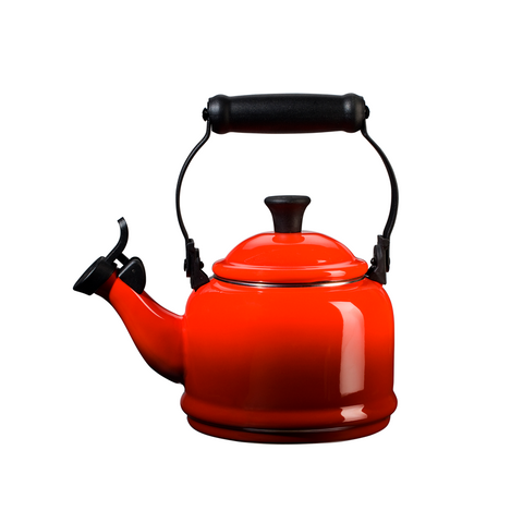 Le Creuset Enamel on Steel Demi Tea Kettle, 1.25 qt, Cerise