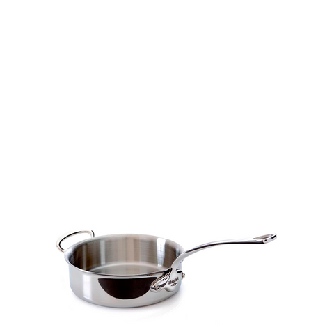 Mauviel M'cook Stainless Steel Saute Pan w/Helper Handle, 6.6-qt