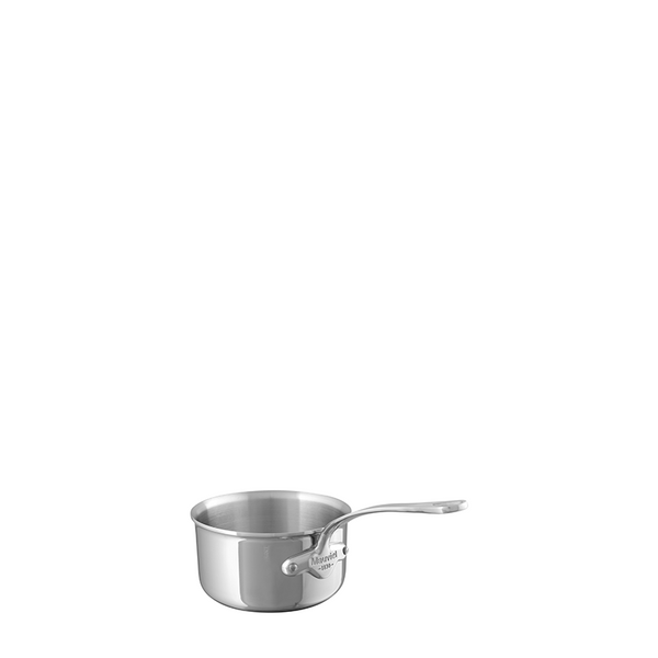 Mauviel M'Cook Stainless Steel Saucepan, 4.8-in