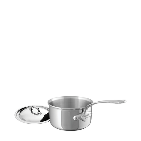 Mauviel M'cook Stainless Steel Saucepan w/Lid, 7-in