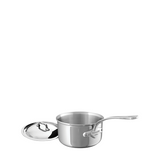 Mauviel M'Cook Stainless Steel Saucepan w/Lid, 6.3-in