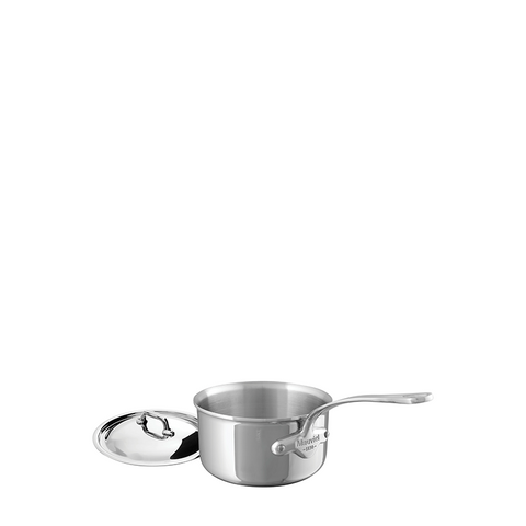 Mauviel M'cook Stainless Steel Saucepan w/Lid, 5.5-in