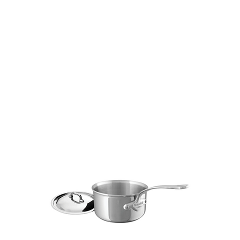 Mauviel M'cook Stainless Steel Saucepan w/Lid, 4.8-in