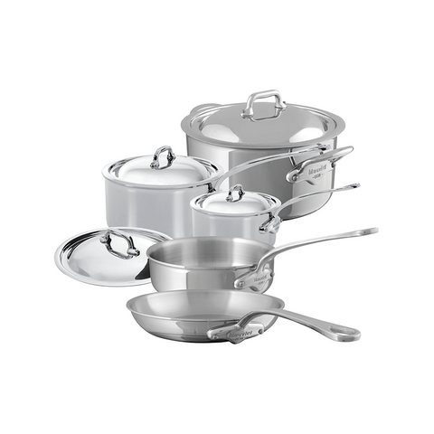 Mauviel M'cook Stainless Steel 9-Piece Set