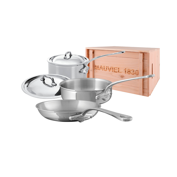 Mauviel M'cook Stainless Steel 5-Piece Set w/Crate