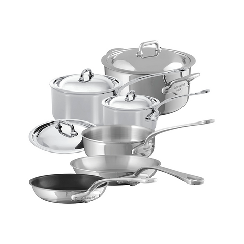 Mauviel M'cook Stainless Steel 10-Piece Set - Kitchen Universe