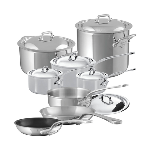 Mauviel M'cook Stainless Steel 14-Piece Set - Kitchen Universe