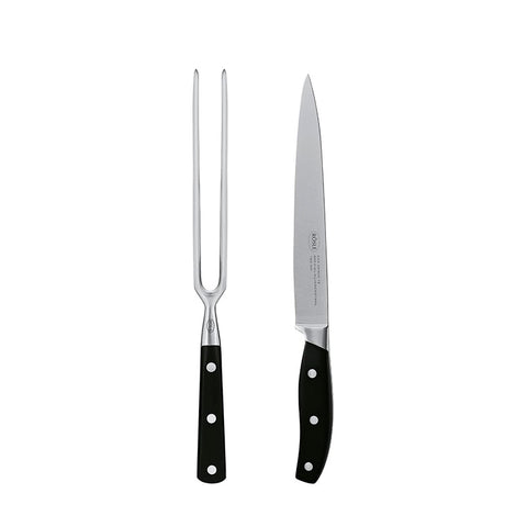 Rosle 2-Piece Stainless Steel Carving Set - Kitchen Universe