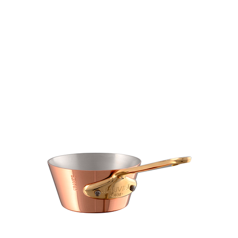 Mauviel M'mini Copper Splayed Saute Pan w/ Bronze Handle, 3.5-in