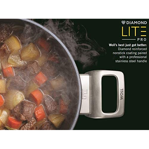 Woll Diamond Lite Pro Casserole with Lid, 5.8 qt, 11-in - Kitchen Universe