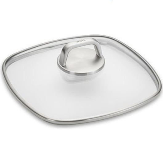 Woll Diamond Lite Pro Square Tempered Glass Lid, 11-in - Kitchen Universe