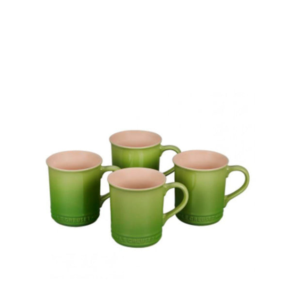 Le Creuset Stoneware Set of 4 Mugs, 14-oz, Palm