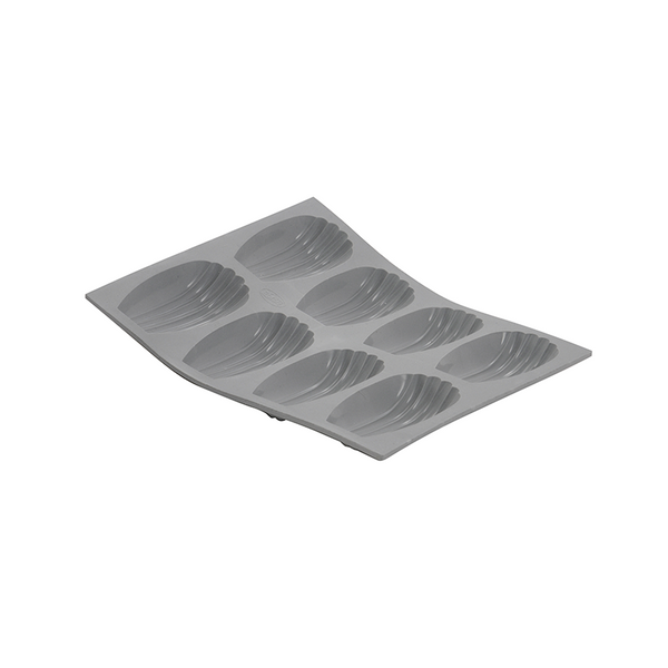 de Buyer Elastomules Silicone Madeleine Mold, 8 portions