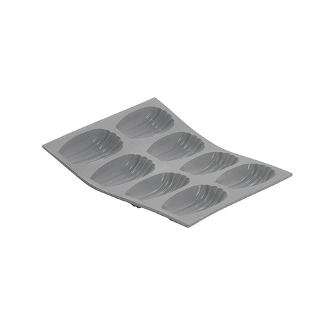 de Buyer Elastomules Silicone Madeleine Mold, 8 portions - Kitchen Universe