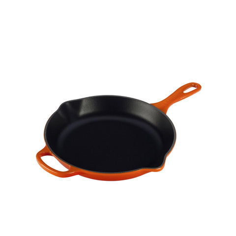 Le Creuset Signature Iron Handle Skillet, 10.25-in, Flame - Kitchen Universe